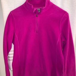 Fuchsia half zip athletic pullover